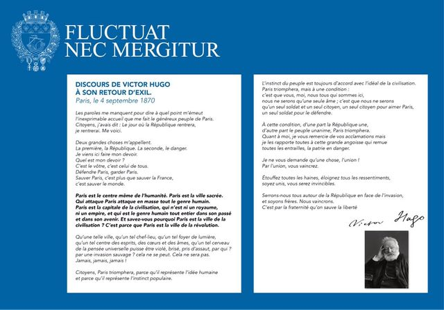 Poème de Victor Hugo lu place de la République
