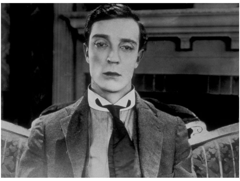 "Buster Keaton en 1924 dans ""Sherlock junior"""