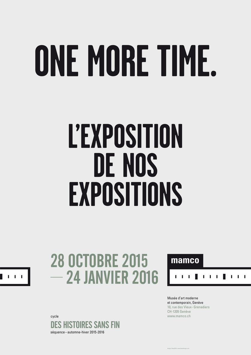 "Affiche ""One more time"" au Mamco"