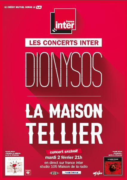 Concert Dionysos et La Maison Tellier
