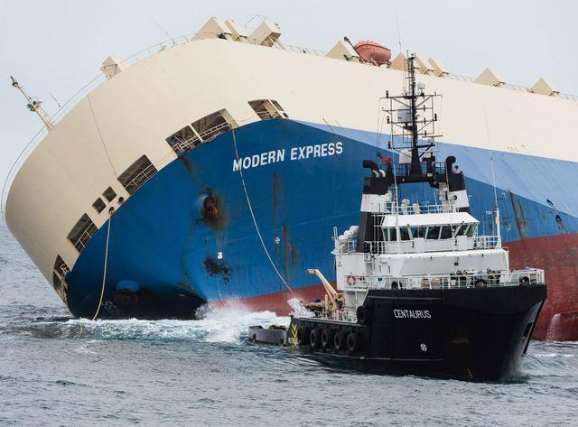 Le remorquage du Modern Express est un succès