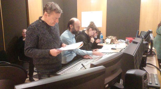 l'équipe technique et le réalisateur, Michel Sidoroff.