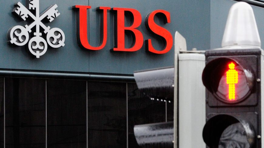 Une banque UBS, en Suisse.