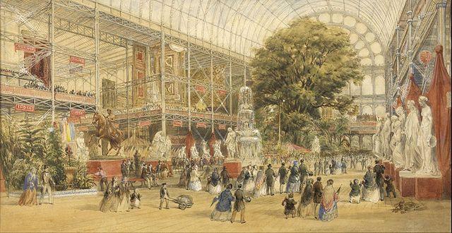La reine Victoria inaugurant l'Exposition universelle de 1851, au Crystal Palace de Londres
