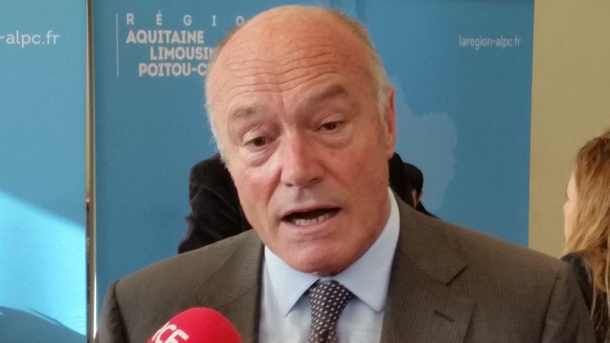 Alain Rousset, le président de la région Aquitaine-Limousin-Poitou-Charentes.