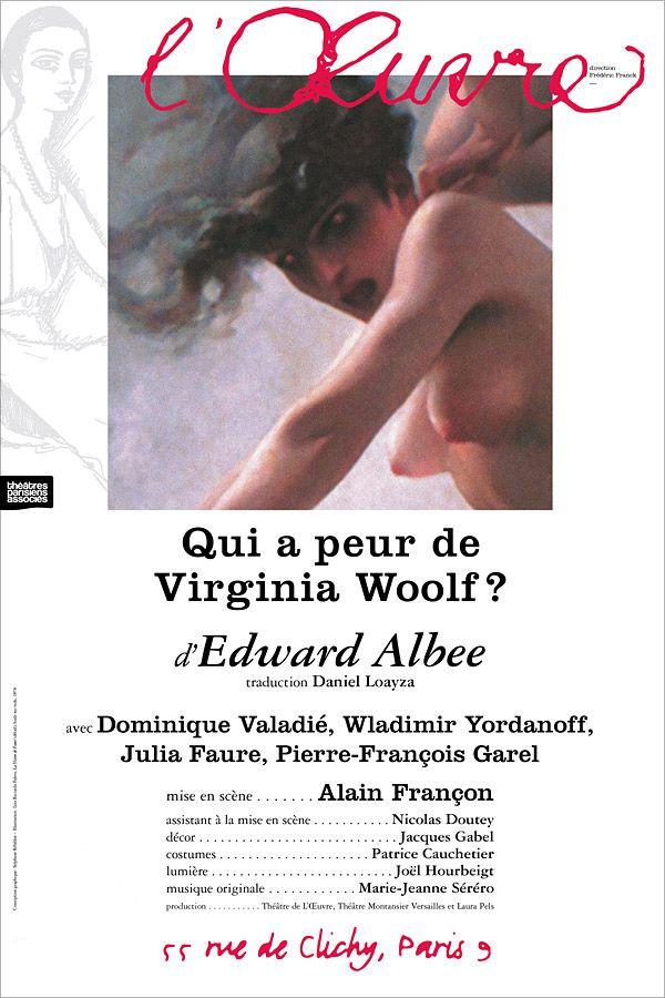 Qui a peur de Virginia Woolf au Théâtre de l'œuvre