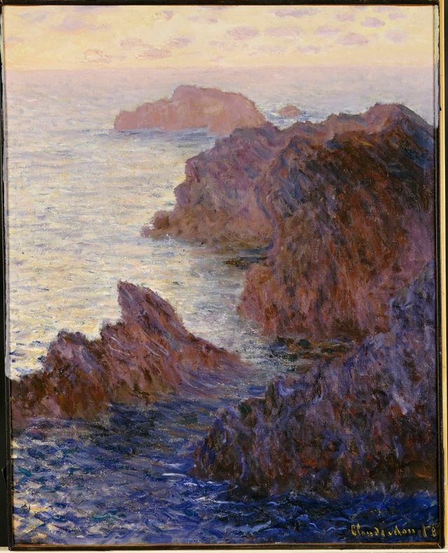 Rochers à Port - Goulphar par Claude Monet