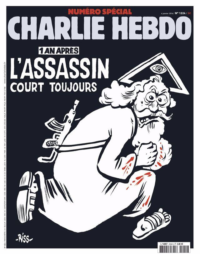 La Une du numéro double de Charlie Hebdo en vente le 6 janvier 2016