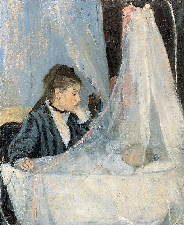 Le Berceau (ou Mme Pontillon et sa fille Blanche) par Berthe Morisot - 1872