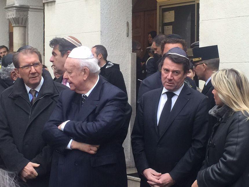 Le maire de Marseille J.-C. Gaudin et le président de la région Paca C. Estrosi