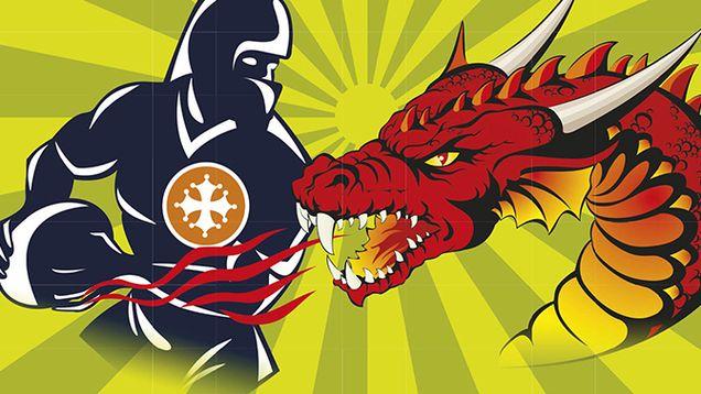Cathares - Dragons, premier choc de l'année