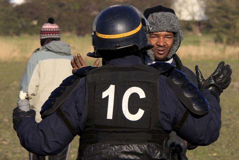 Les forces de l'ordre sont intervenues à Calais le 23 janvier après une manifest
