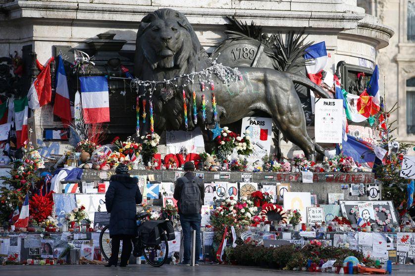 La place de la République, un an après les attentats