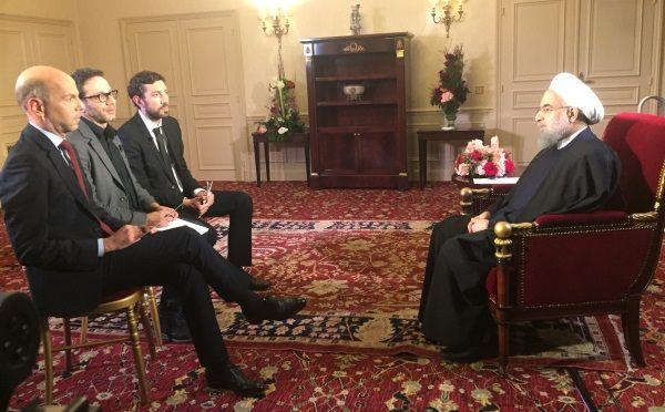 Interview exclusice du Président de la République islamique d'Iran, Hassan Rohani, à France 24, Le Monde et France Culture