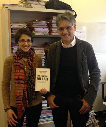 Elsa Casalegno et Karle Laske dans le bureau de Secrets d'Info, janvier 2016