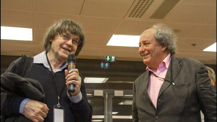 Michel Renaud aux côtés de Cabu en novembre 2014 à Clermont.
