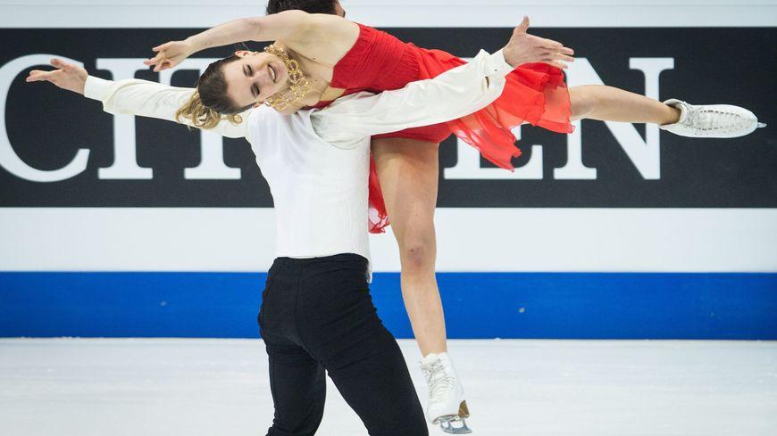 Gabriella Papadakis et Guillaume Cizeron lors des championnats d'Europe