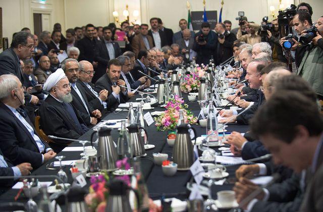 Hassan Rouhani et sa délégation rencontre le MEDEF