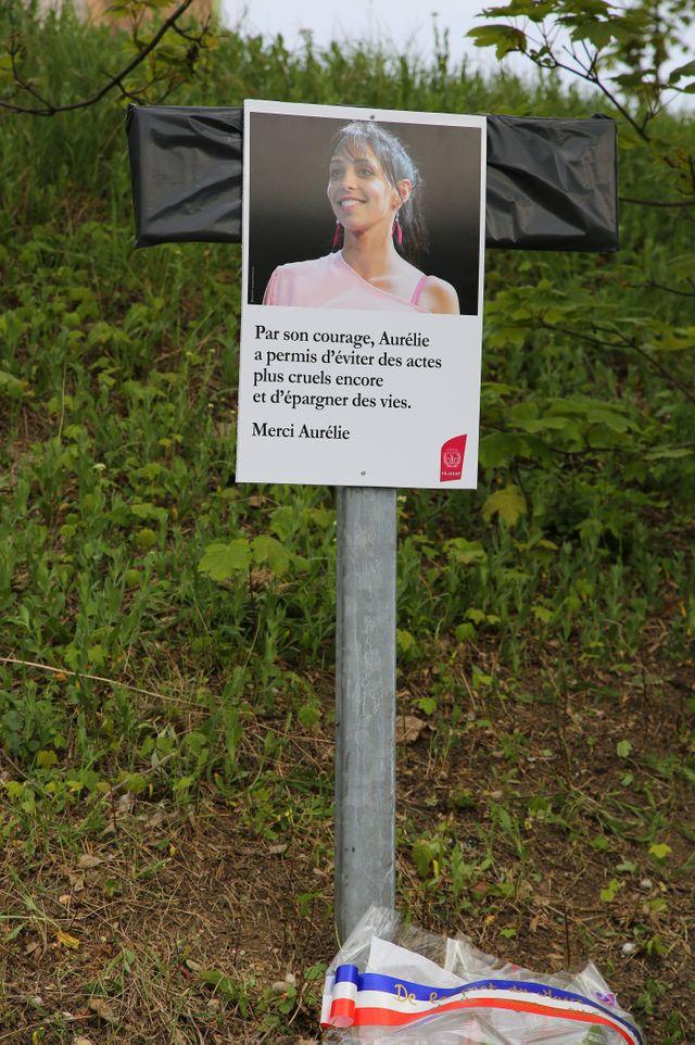 Hommage à Aurélie Chatelain à Villejuif en avril  2015