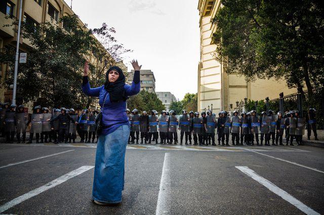 Pauline Beugnies, manifestante au Caire