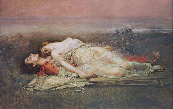 """""""Tristan et Iseult (La mort)"""" de Rogelio de Egusquiza"""