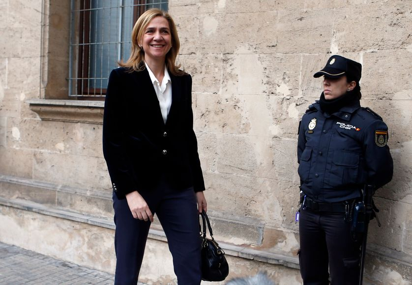 Cristina de Bourbon, fille de Juan Carlos et soeur du Roi, en février 2014 à Palma de Majorque