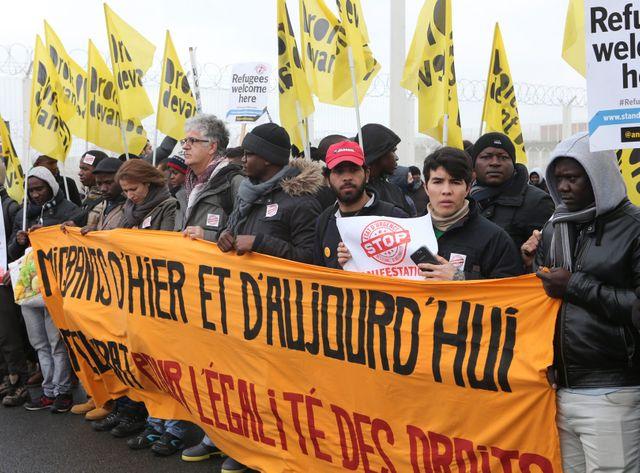 Une manifestation en soutien aux migrants à Calais
