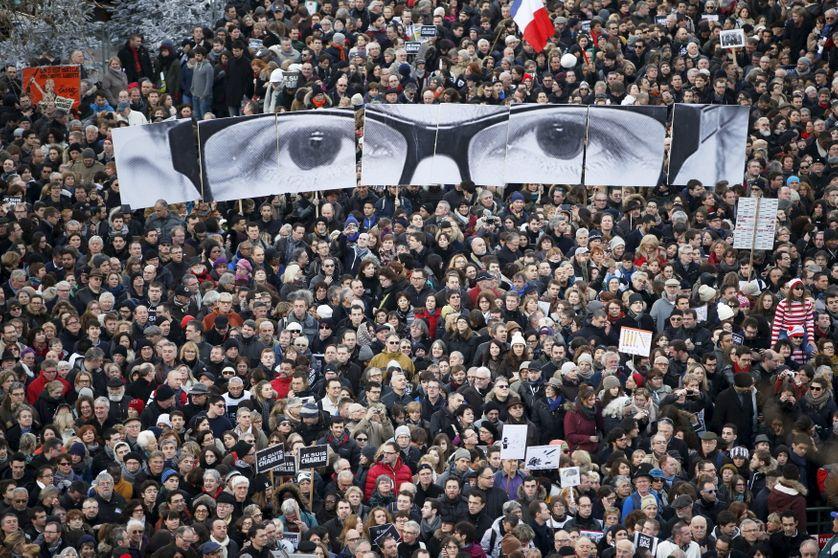 Marche républicaine du 11 janvier 2015, avec le regard de Stéphane Charbonnier