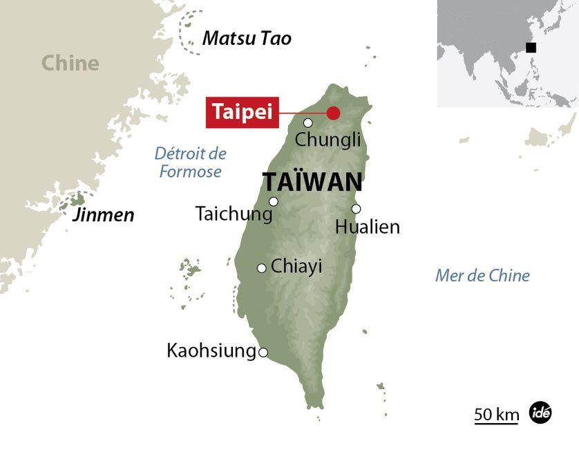Carte de localisation de Taïwan