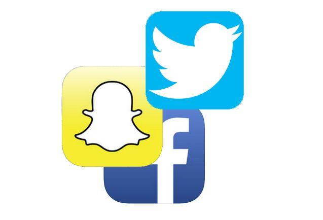 Twitter, Snapchat et Facebook