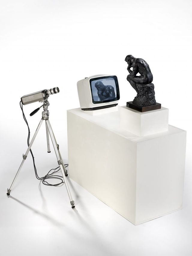 Nam June Paik, TV Rodin (Le penseur), 1978