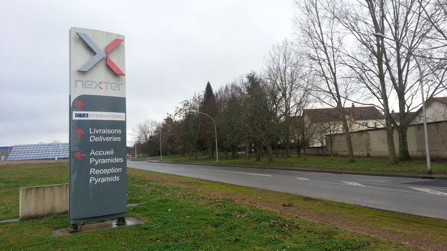 L'entrée du site Nexter de Bourges