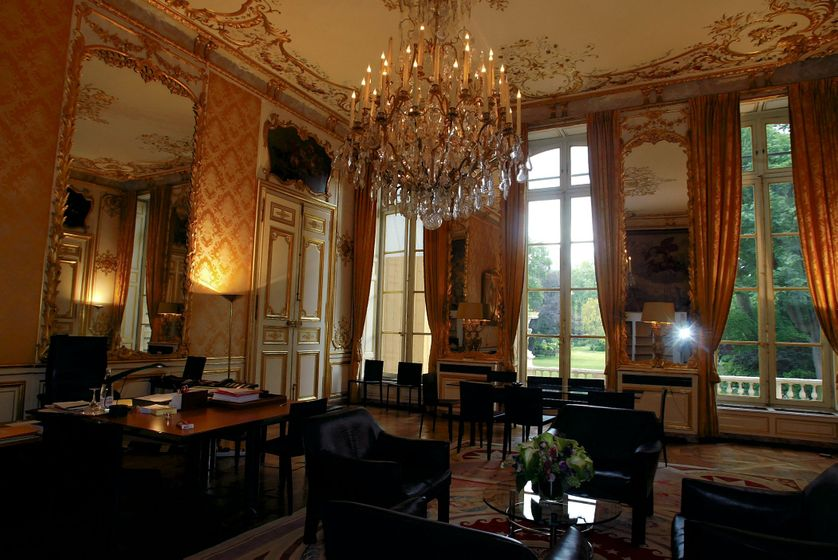Le salon jaune à l'intérieur de Matignon