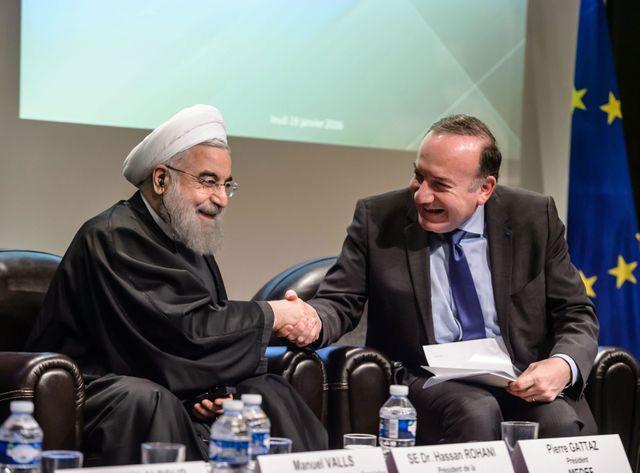 Hassan Rohani en visite au Medef