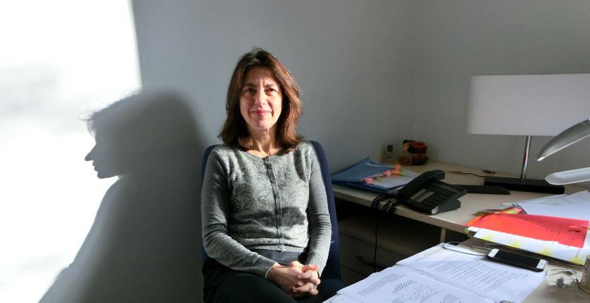 Claudia Senik, en janvier 2016 dans son bureau à Paris