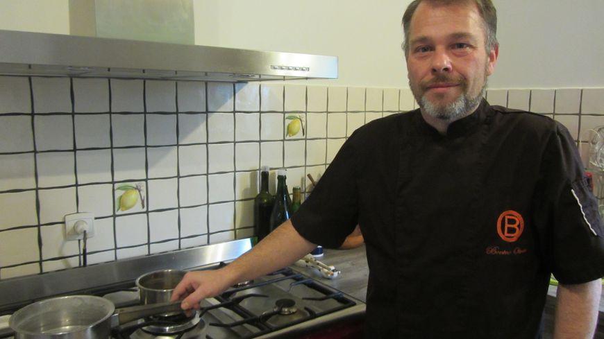 A la maison, la famille d'Olivier Bonino profite aussi de ses talents culinaires