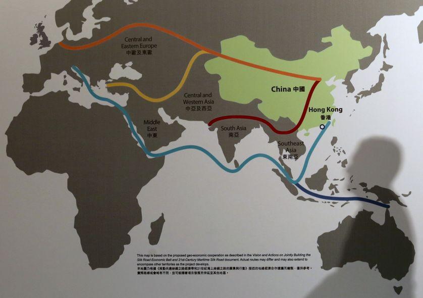 Carte du projet exposée au forum financier asiatique à Hong Kong en janvie