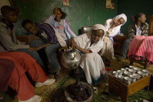 Cérémonie du café à Addis Abeba