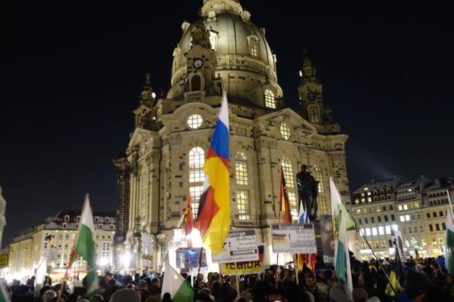 Manifestation de Pediga dans les rues de Dresde