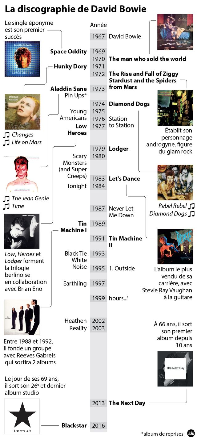 Bowie infographie