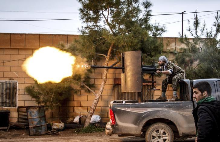 Combattant kurde en Syrie.