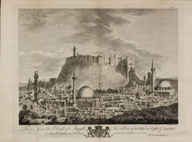 Vue d'Alep - Gravure de Willamam Strahan - 1754