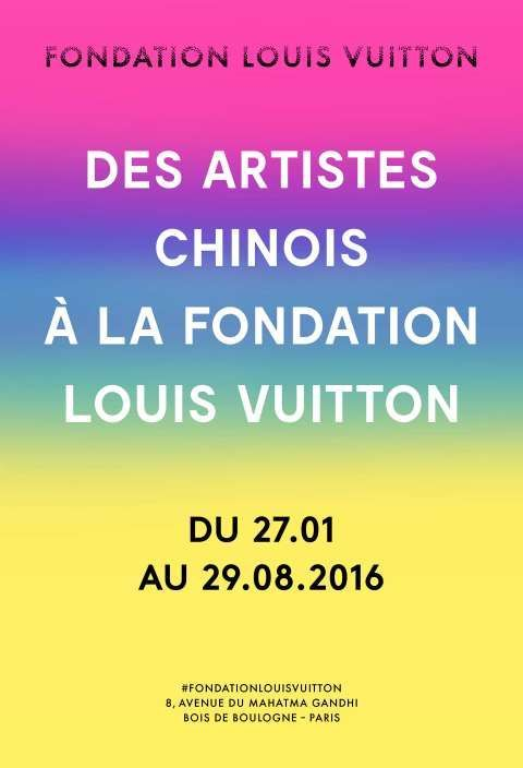 Affiche exposition Chine à la Fondation Louis Vuitton