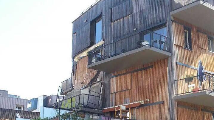Le balcon de la résidence Saint-Exupéry qui s'est effondré