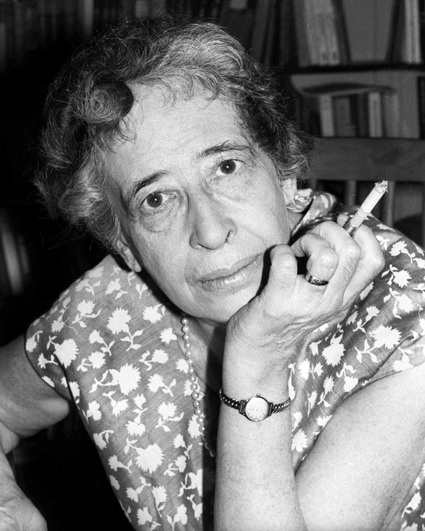 Portrait d'Hannah Arendt en 1966