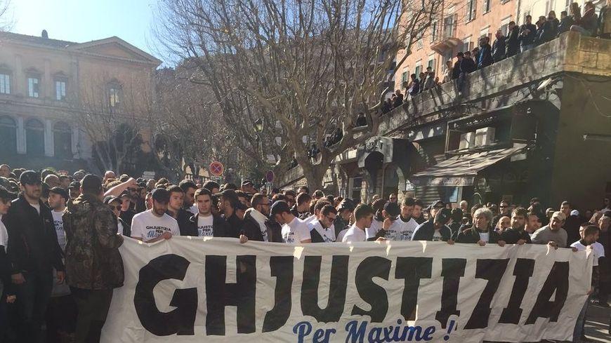 """La manifestation """"pour la vérité"""" à Bastia"""