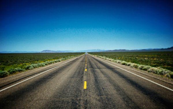 Une route de l'Ouest américain