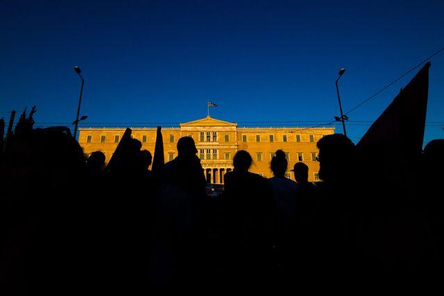 Manifestation anti-austérité en Grèce, 15 juillet 2015, à Athènes.