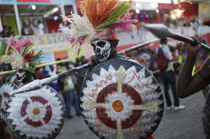 Parade lors du carnaval de Port-au-Prince.