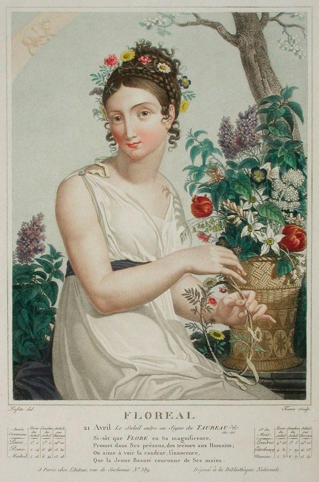 Allégorie de Floréal - par Louis Lafitte - vers 1794